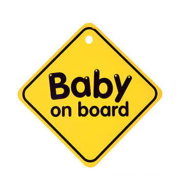 Reflective Baby on board car sticker