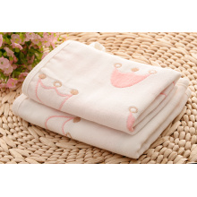 Newborn Baby Girl Towel and Washcloths Gift Set