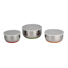 Stainless Steel salad Bowl Set With Stability Base