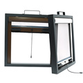 Retractable window with aluminum frame 0914