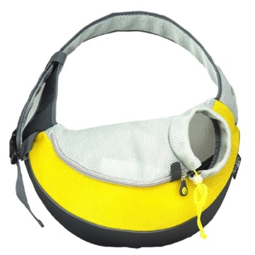 Free sample for Travelling Pet Backpack Yellow PVC and Mesh Pet Sling export to South Korea Importers