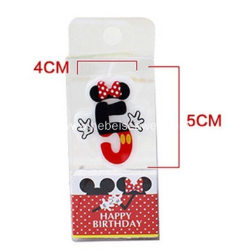 Good quality paraffin wax birthday number candle
