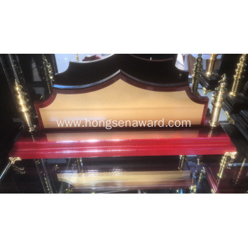 Wood Desk Name DN-6