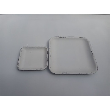 White Cheap Wooden Plates