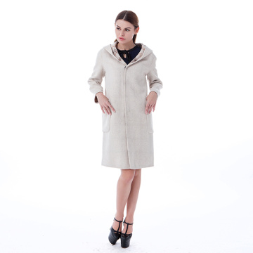 New Beige cashmere overcoat
