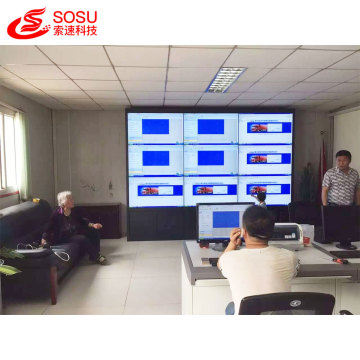 Newest screen 1*4 LCD video wall in Dubai