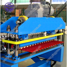 Low Cost for Aluminum Corrugated Roof Sheet Roll Forming Machine steel aluminum corrugated roll forming machine supply to United States Minor Outlying Islands Supplier