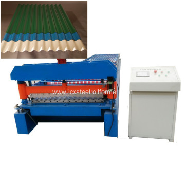 Galvanized corrugated profile sheet machine