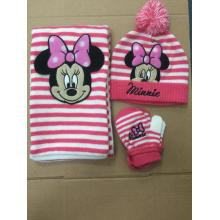 Supply for Printing Knitting Hat Disney Children Warm Knitting Hat Glove Scarf export to Switzerland Manufacturer