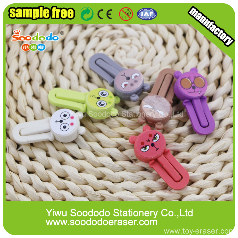 shaped eraser bookmark shape stationery