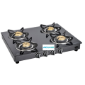 Classic 4 Burner Toughened Glass Gas Stove