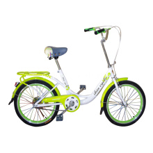 Green Color City Bike with Side Kickstand