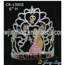 "6"" Custom Rhinestone Princess Crown For Girls"