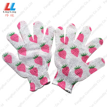 China for Bath Gloves moisturizing bath body scrub bathroom sponge gloves export to United States Manufacturer