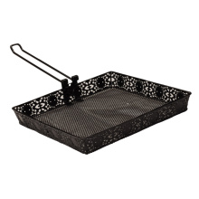 folding handle bbq grill top rack