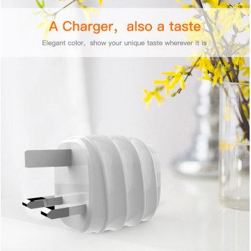 Dual Port Mobile Phone Charger USB Wall Charger