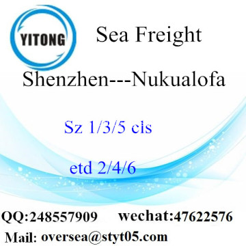 Shenzhen Port LCL Consolidation To Nukualofa