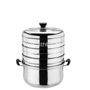 Energy Conservation Multilayers Stainless Steel Steamer Pot