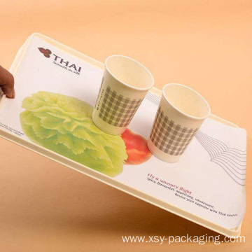 Anti slip paper tray liners for train