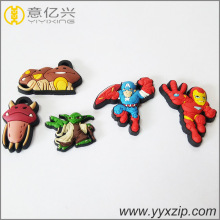Competitive Price for Customized Rubber Label, Rubber Tag China Direct Factory Fashion American Hero Cartoons Cute Small Silicon Keychain export to Germany Supplier
