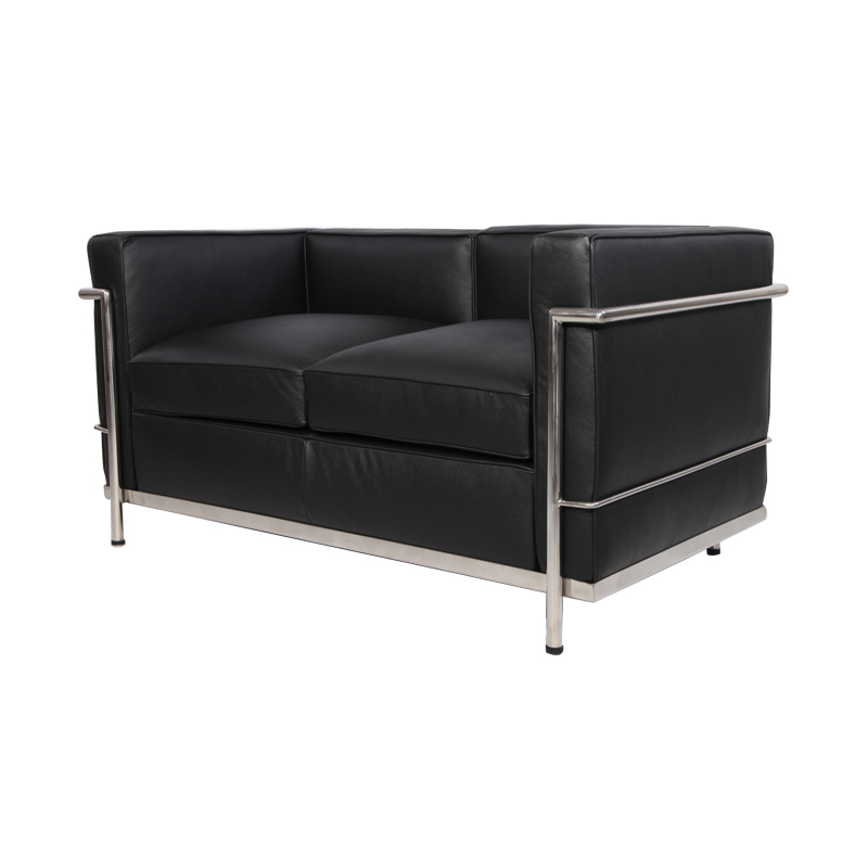 Leather Le Corbusier LC2 Loveseat