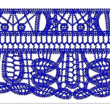 Dark Blue fashion lace for dress
