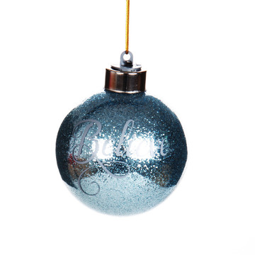 LED Light Up Glass Christmas Ball WIth Customized Logo