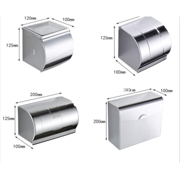 Hardware Waterproof Roll Paper Box With Ashtray Toilet Paper Holder