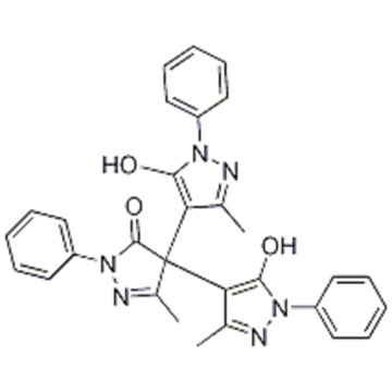 3H-Pyrazol-3-on, 2,4-Dihydro-4,4-bis (5-hydroxy-3-methyl-1-phenyl-1H-pyrazol-4-yl) -5-methyl-2-phenyl-CAS 124009-63-8