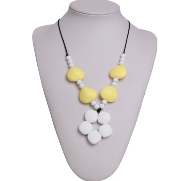 Fashional Mom Wear Silicone Baby Teething Necklace
