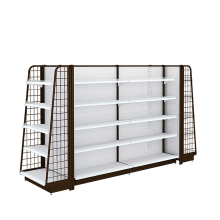 Supplier for Backplane Supermarket Shelf Metal Supermarket Backplane Display Shelving supply to Norfolk Island Wholesale