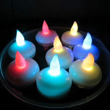 Color floating led candle for wedding decoration
