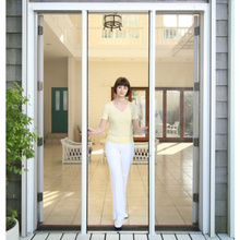 Retractable screen for double door
