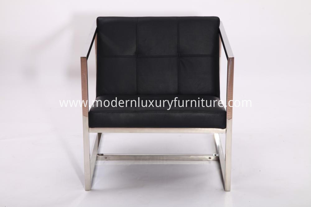 Black Leather Angles Lounge Chairs