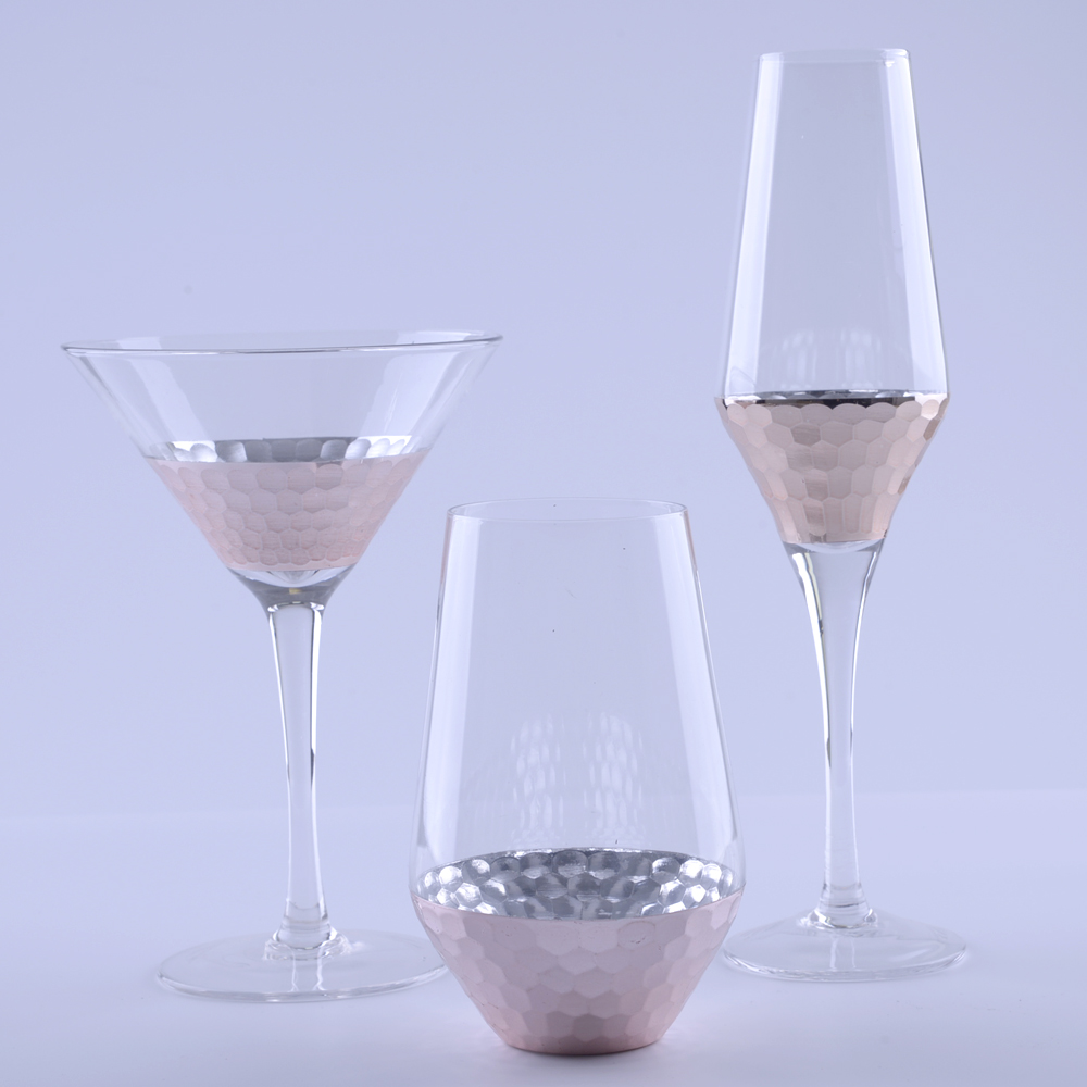 Rose Gold Drinking Glass Set