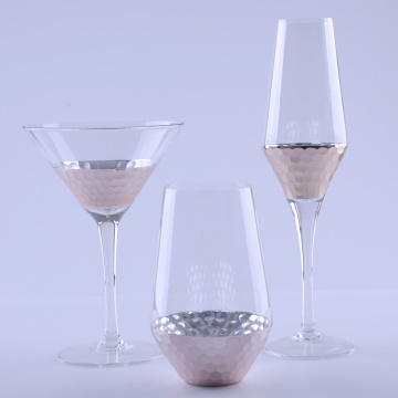 Hand Made Rose Gold Drinking Glass Set