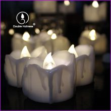 home decoration led tea light tear drop candles