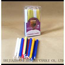 Quality Inspection for for Unscented Color Taper Candle PVC box Wholesale Hanukkah candles 45pcs export to Zambia Manufacturer