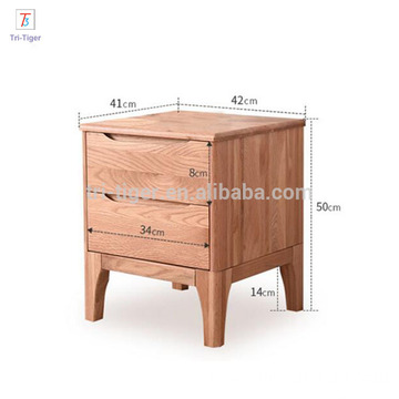 2 drawers table modern night stand bedside cabinet