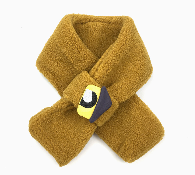 Comfortable Polar Fleece Scarf Yellow