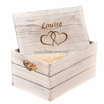 Personalised Antique Wooden Gift Box Crate