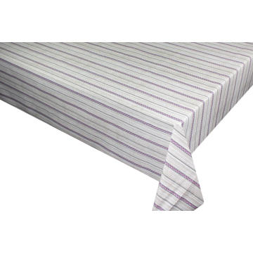 Elegant Tablecloth with Non woven backing White Checkered