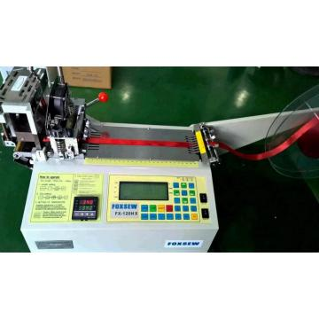 Automatic Grosgrain Ribbon Angle Cutter with Hot Knife