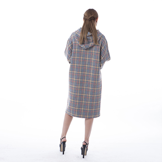 Colour Checked Cashmere Winter Dress
