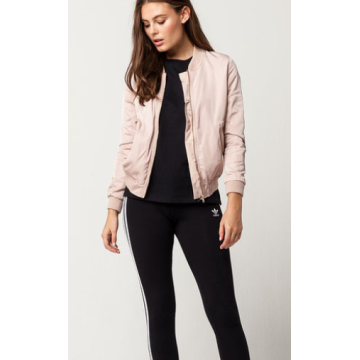Matte Satin Womens Bomber Jacket
