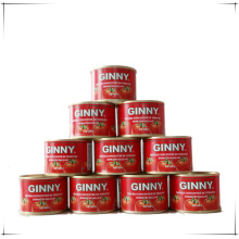 70g GINNY brand 28-30% concentrate tomato paste