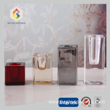 Colored Glass Cube Candlesticks Holders