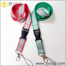 Decorative special silkscreen silver reflective lanyard