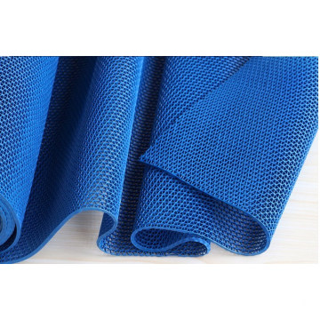 Waterproof blue bathroom S or Z mat