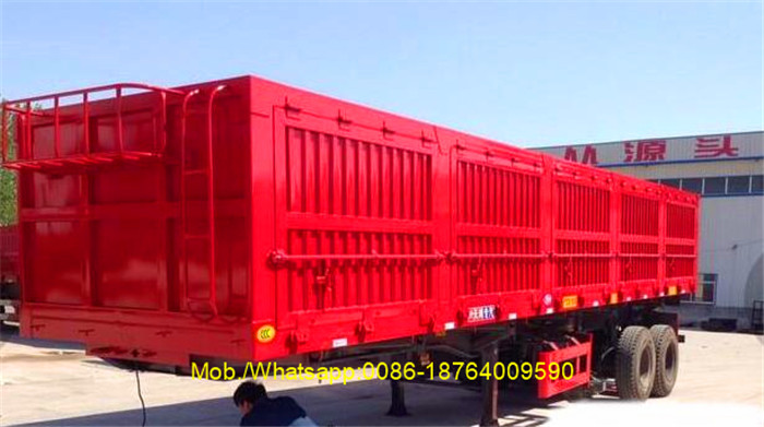 Tri-axles 40 Ton Side Dumper Truck Trailer